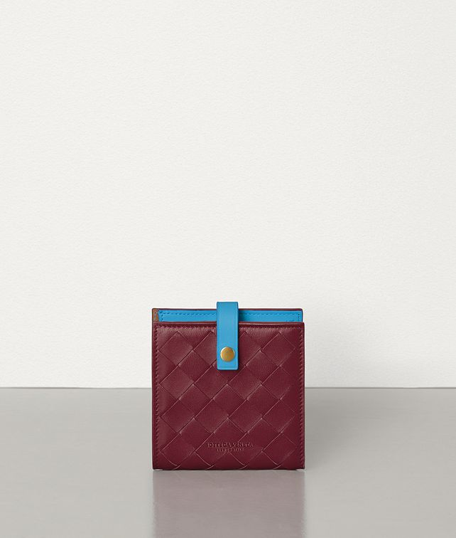BOTTEGA VENETA MINI FRENCH WALLET IN NAPPA AND CALFSKIN Small Wallet Woman fp
