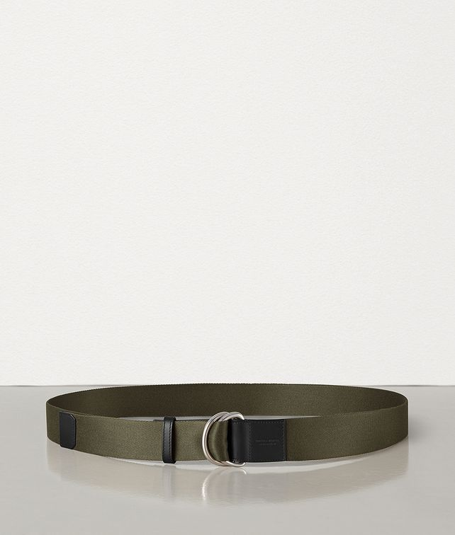 BOTTEGA VENETA BELT IN CANVAS AND MATT CALFSKIN Belt Man fp