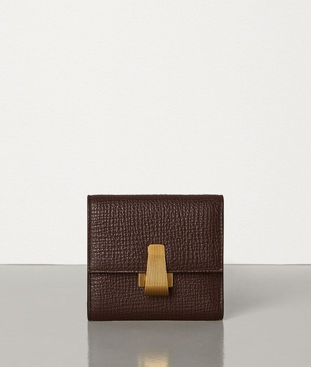 BOTTEGA VENETA MINI CONTINENTAL WALLET IN PALMELLATO Small Wallet Woman fp