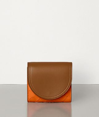 MINI CONTINENTAL WALLET IN INTRECCIATO  NAPPA