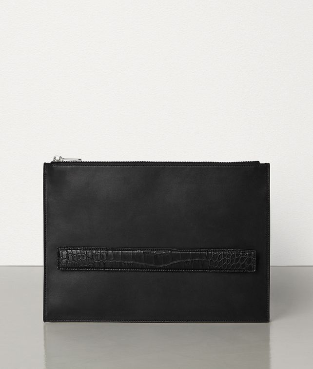 BOTTEGA VENETA POUCH IN ALLIGATOR AND CALF LEATHER Pouch Man fp