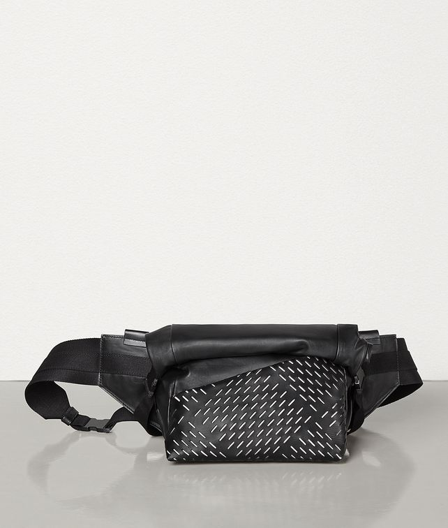 BOTTEGA VENETA BELT BAG IN PERFORATED PAPER CALFSKIN Belt Bag Man fp