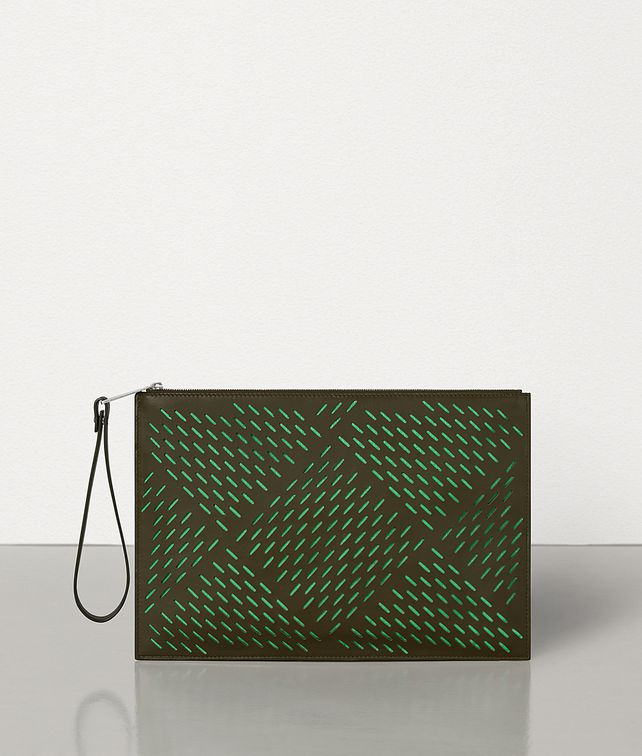 BOTTEGA VENETA POUCH IN PERFORATED PAPER CALFSKIN Pouch Man fp