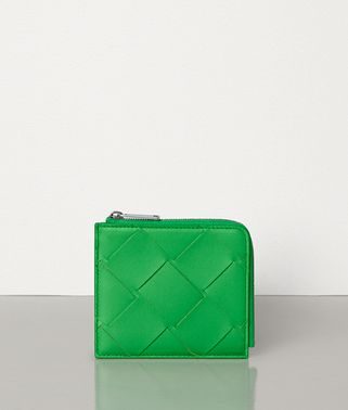 SMALL ZIP.AROUND WALLET IN INTRECCIATO NAPPA