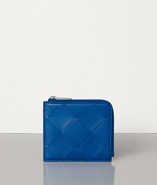 SMALL ZIP AROUND WALLET IN INTRECCIATO NAPPA