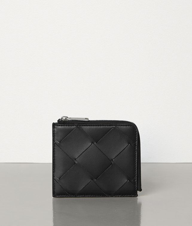 BOTTEGA VENETA SMALL ZIP AROUND WALLET IN INTRECCIATO NAPPA Small Wallet Man fp