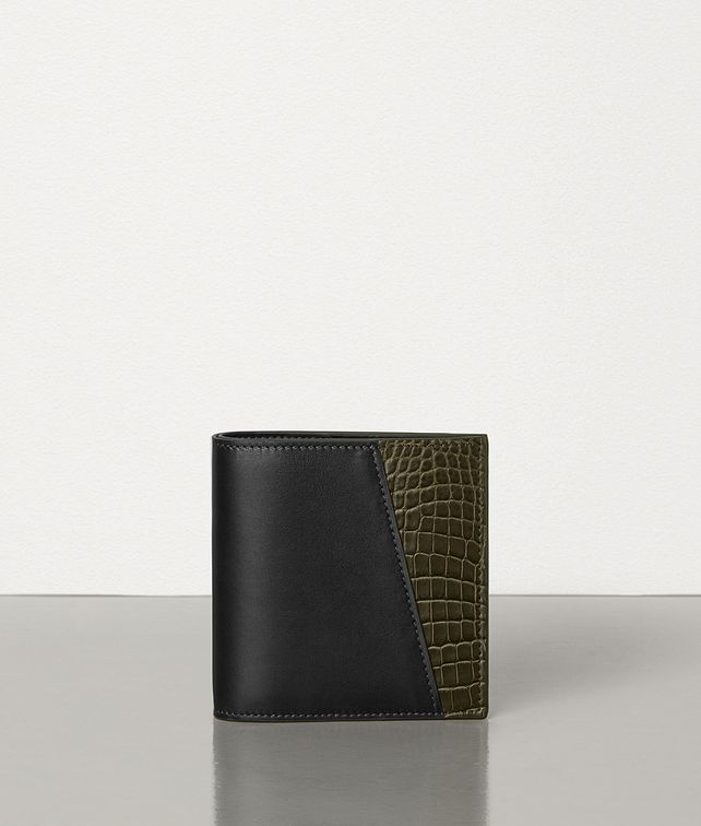 BOTTEGA VENETA BI-FOLD WALLET IN ALLIGATOR AND CALF LEATHER Small Wallet Man fp