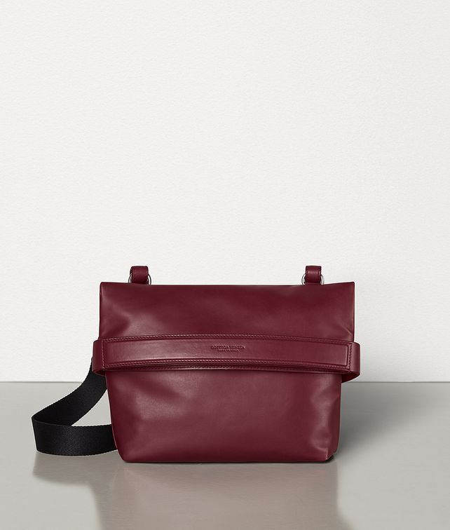 BOTTEGA VENETA SMALL CROSS-BODY BAG IN PAPER CALFSKIN Pouch Man fp