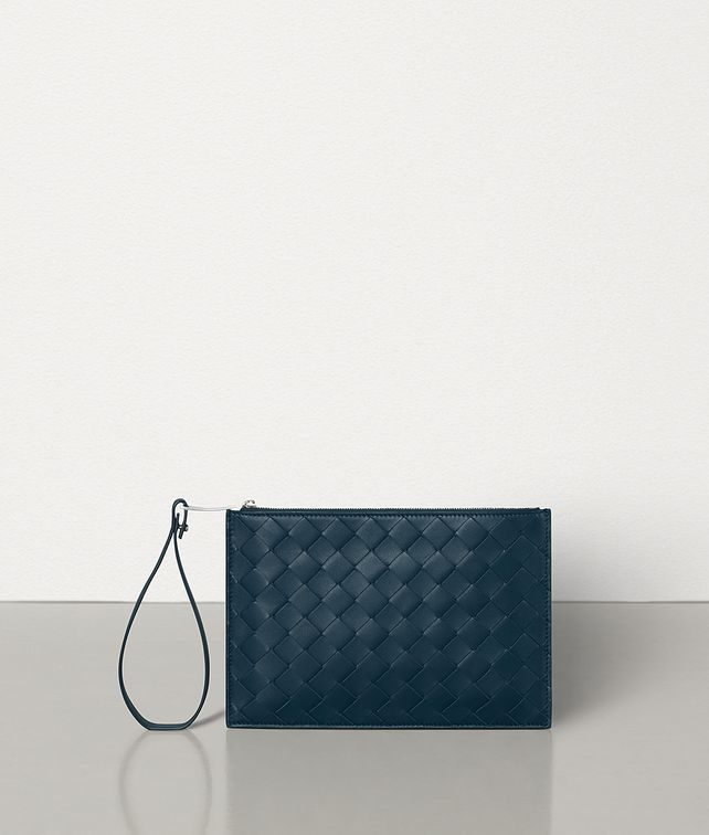 BOTTEGA VENETA SMALL POUCH IN MAXI INTRECCIO Pouch E fp