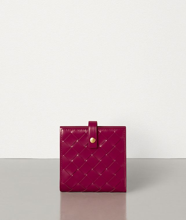 BOTTEGA VENETA MINI FRENCH WALLET IN INTRECCIATO SPAZZOLATO CALFSKIN Small Wallet Woman fp