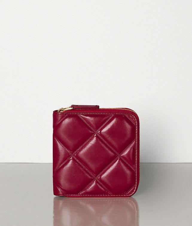 BOTTEGA VENETA MINI ZIP AROUND WALLET IN PADDED PAPER CALFSKIN Small Wallet Woman fp