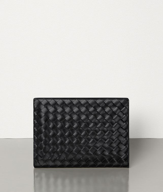 BOTTEGA VENETA MINI DOCUMENT CASE IN INTRECCIATO SPAZZOLATO CALFSKIN Document case Man fp