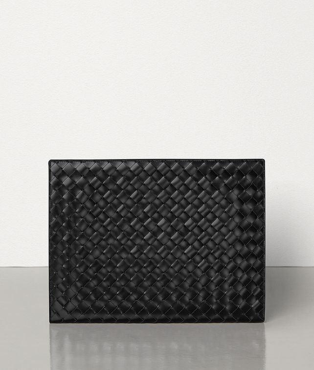 BOTTEGA VENETA SMALL DOCUMENT CASE IN INTRECCIATO SPAZZOLATO CALFSKIN Document case Man fp