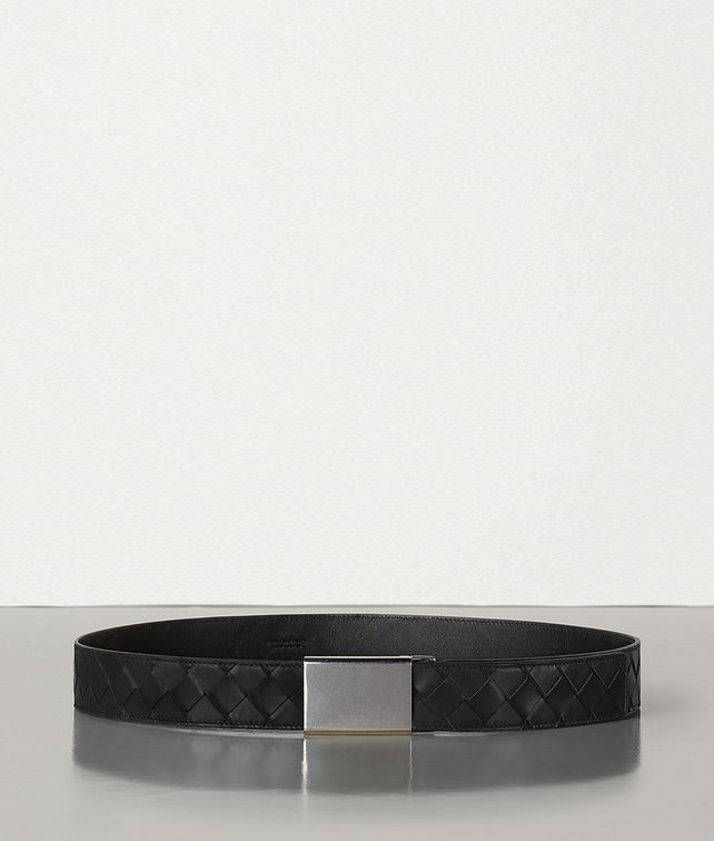 BOTTEGA VENETA BELT IN INTRECCIATO FRENCH CALF Belt Man fp