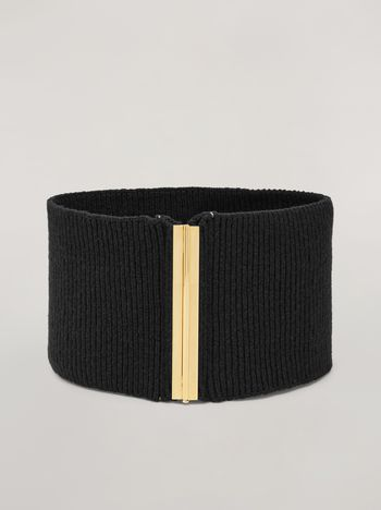 Marni Stretch knitted wide belt Woman f