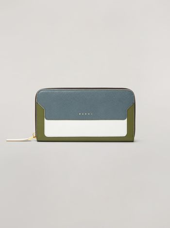 Marni Rectangular zip-around wallet in Saffiano leather  Woman f