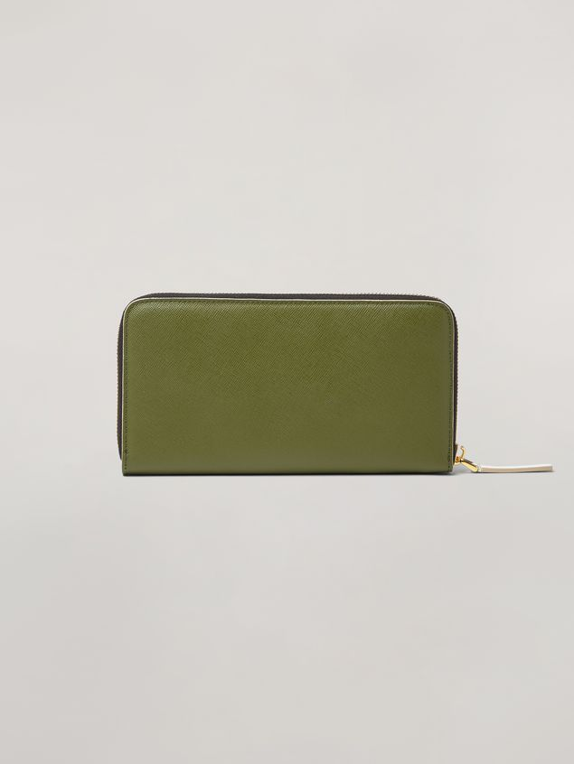 Marni Rectangular zip-around wallet in Saffiano leather  Woman
