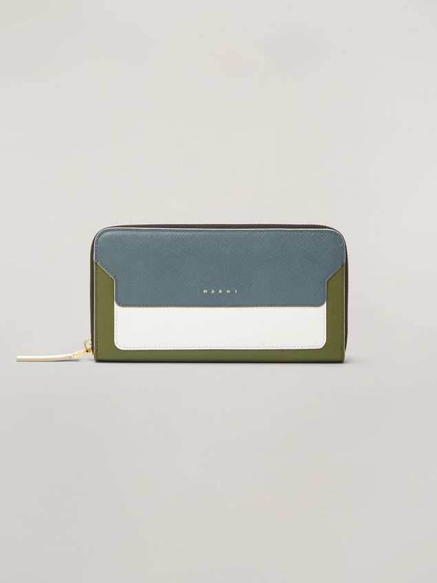 Marni Rectangular zip-around wallet in Saffiano leather  Woman - 1