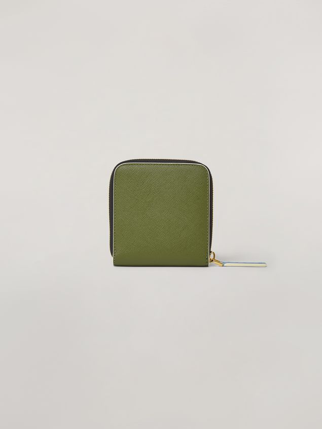 Marni Squared zip-around wallet in Saffiano leather  Woman