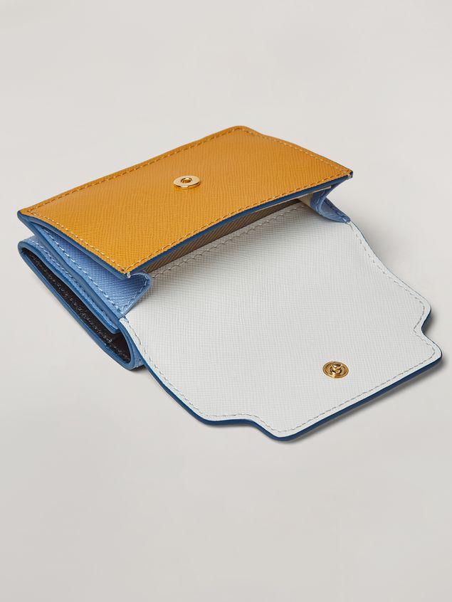 Marni Saffiano leather tri-fold wallet Woman - 4