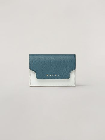 Marni Saffiano leather tri-fold wallet Woman f