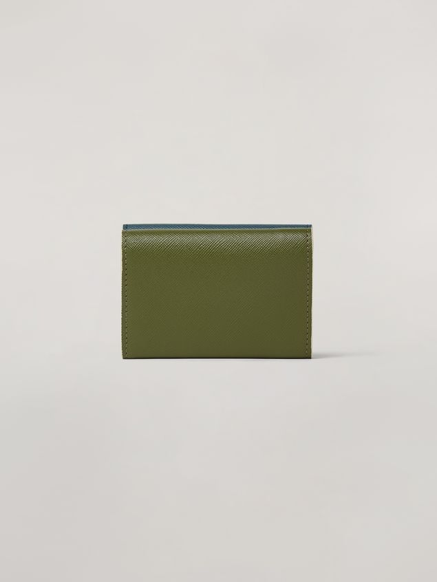 Marni Saffiano leather tri-fold wallet Woman