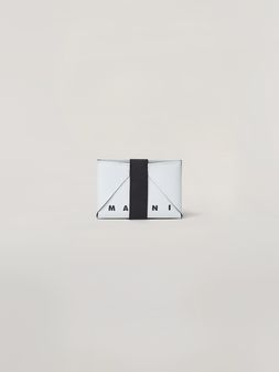 Marni Wallet in white and green PVC Man