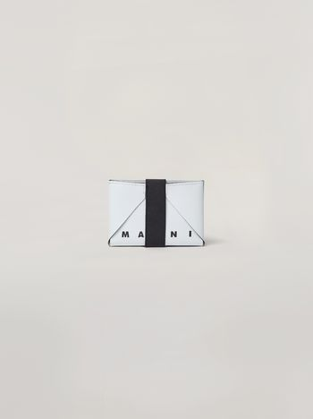 Marni Wallet in white and green PVC Man f
