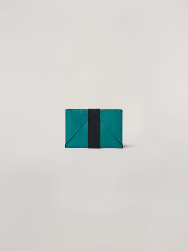 Marni Wallet in PVC white and green Man