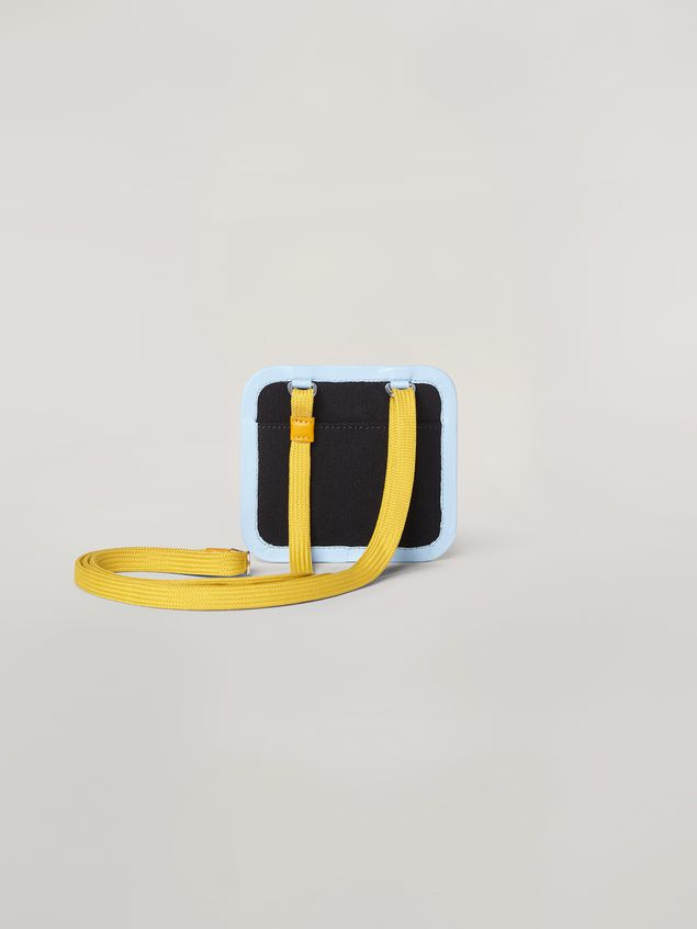 Marni Necklace credit card holder in waterproof cotton canvas Man