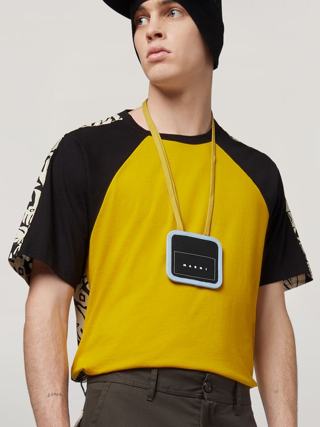 Marni Necklace credit card holder in waterproof cotton canvas Man - 4