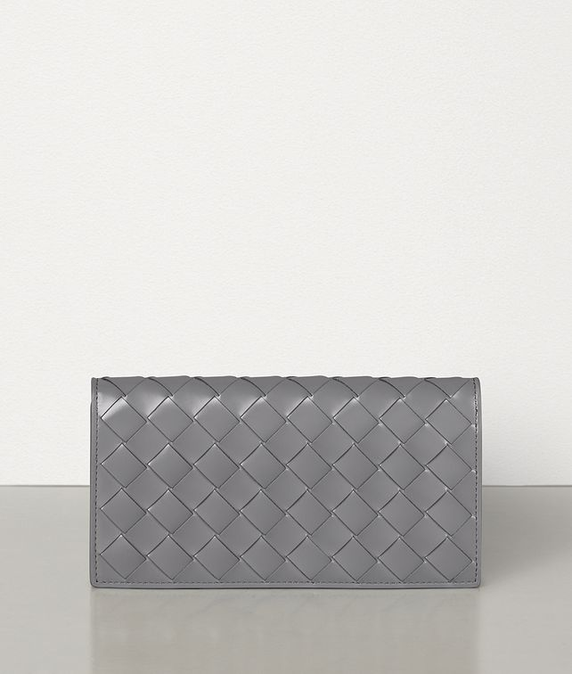 BOTTEGA VENETA CONTINENTAL WALLET IN INTRECCIATO SPAZZOLATO CALF Large Wallet Woman fp