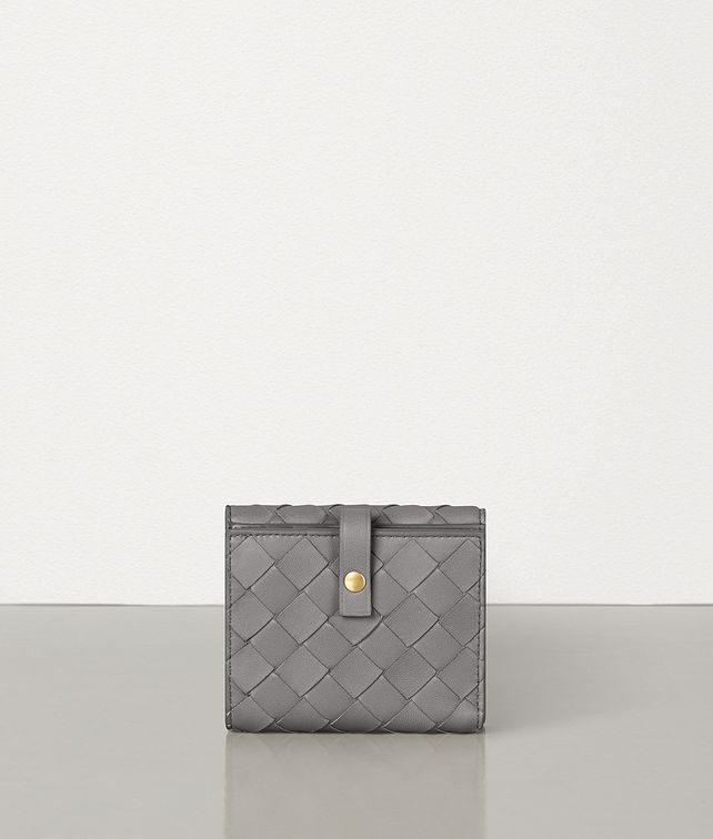 BOTTEGA VENETA SMALL FRENCH WALLET IN INTRECCIATO NAPPA Small Wallet Woman fp