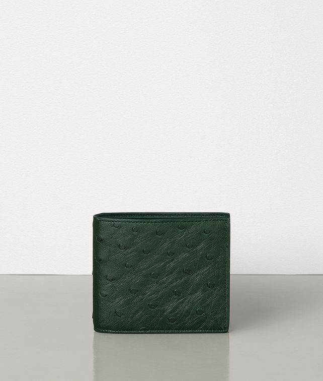 BOTTEGA VENETA BILLFOLD WALLET IN OSTRICH LEATHER Small Wallet Man fp