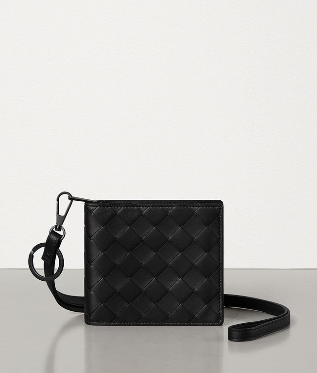BOTTEGA VENETA ZIP-AROUND WALLET IN INTRECCIATO VN Small Wallet Man fp