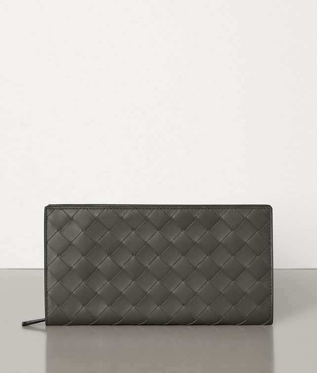 BOTTEGA VENETA ZIP-AROUND WALLET IN INTRECCIATO VN Large Wallet Man fp