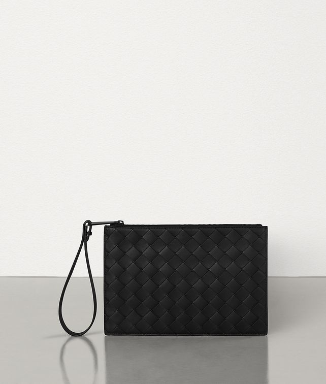 BOTTEGA VENETA MEDIUM POUCH IN INTRECCIATO VN Pouch Man fp