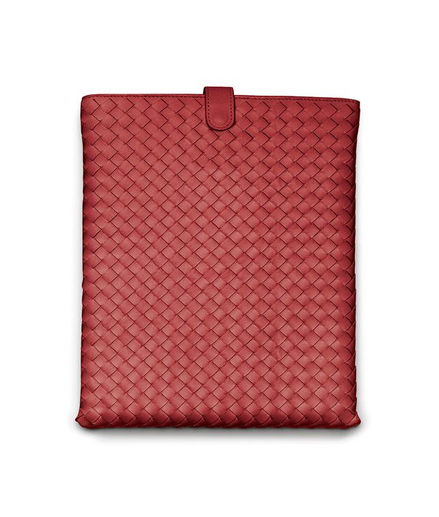 BOTTEGA VENETA iPad-Hülle aus Nappaleder Intrecciato Blood Weiteres Leder Accessoire E fp