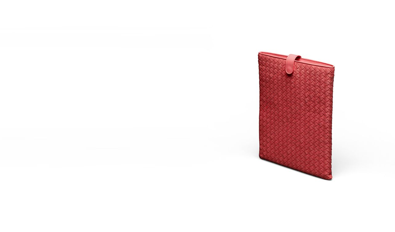 BOTTEGA VENETA Other Leather Accessory E Blood Intrecciato Nappa iPad Case pl