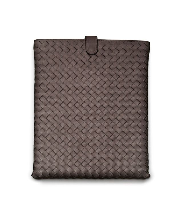 BOTTEGA VENETA IPAD CASE IN EBANO INTRECCIATO NAPPA Other Leather Accessory E fp