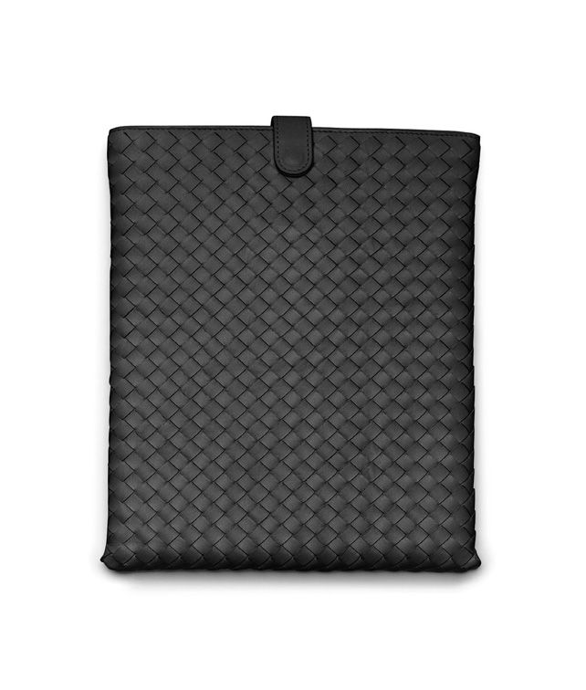 BOTTEGA VENETA IPAD CASE IN NERO INTRECCIATO NAPPA Other Leather Accessory E fp
