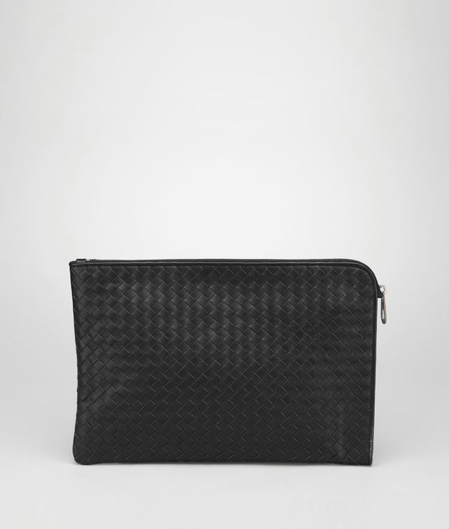 BOTTEGA VENETA NERO INTRECCIATO SMALL DOCUMENT CASE Small bag U fp