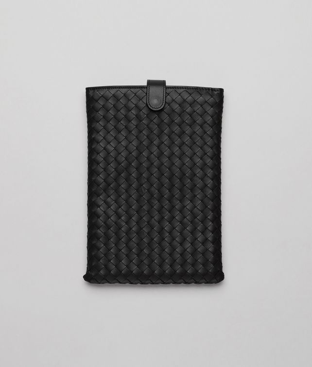 BOTTEGA VENETA Custodia per iPad Mini Nera in Nappa Intrecciata Altro accessorio in pelle E fp