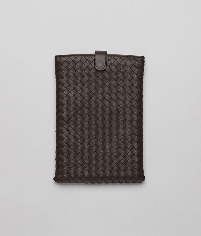 BOTTEGA VENETA Ebano Intrecciato Nappa Mini Ipad Case Other Leather Accessory E fp