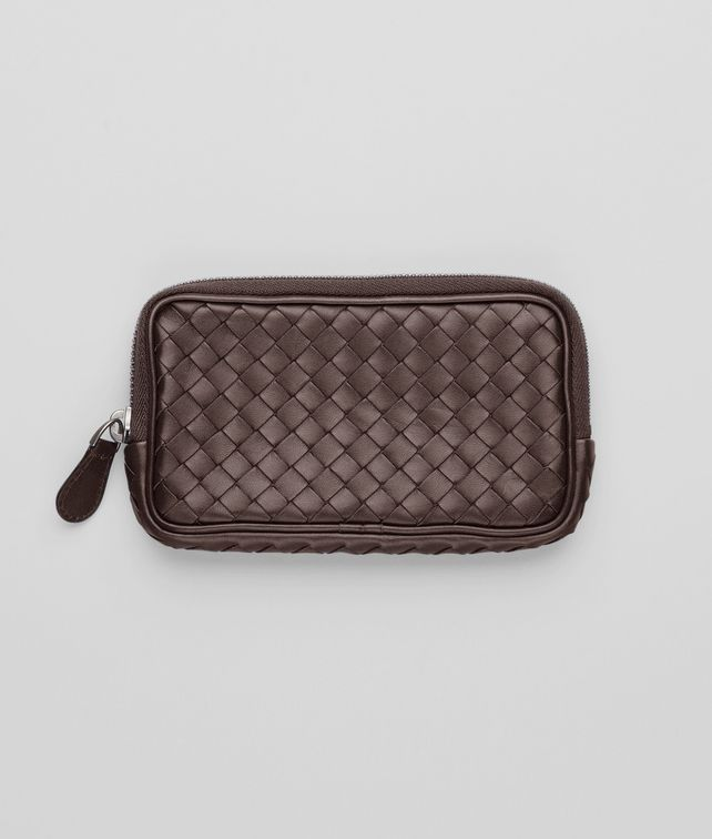 BOTTEGA VENETA Ebano Intrecciato Nappa Hi-tech Case Other Leather Accessory D fp