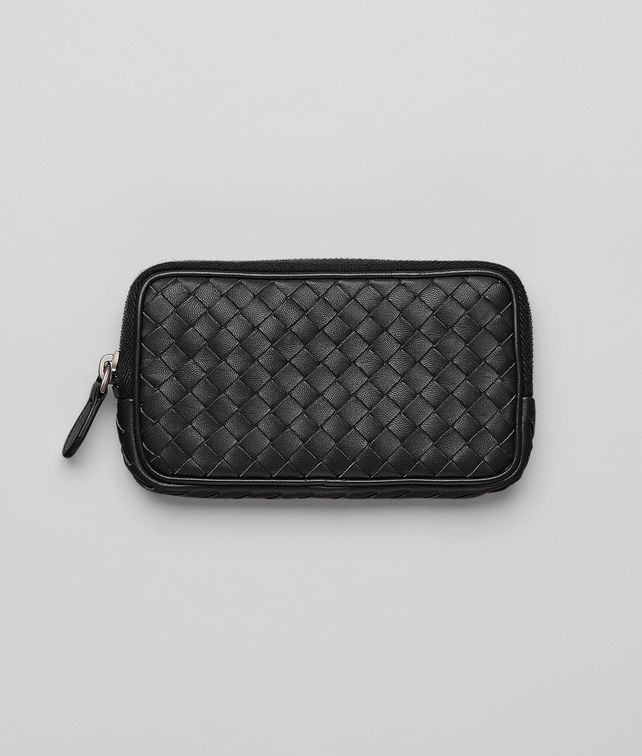 BOTTEGA VENETA Nero Intrecciato Nappa Hi-tech Case Other Leather Accessory D fp