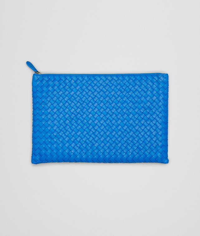 BOTTEGA VENETA PORTA DOCUMENTI SIGNAL BLUE IN NAPPA INTRECCIATA Altro accessorio in pelle E fp