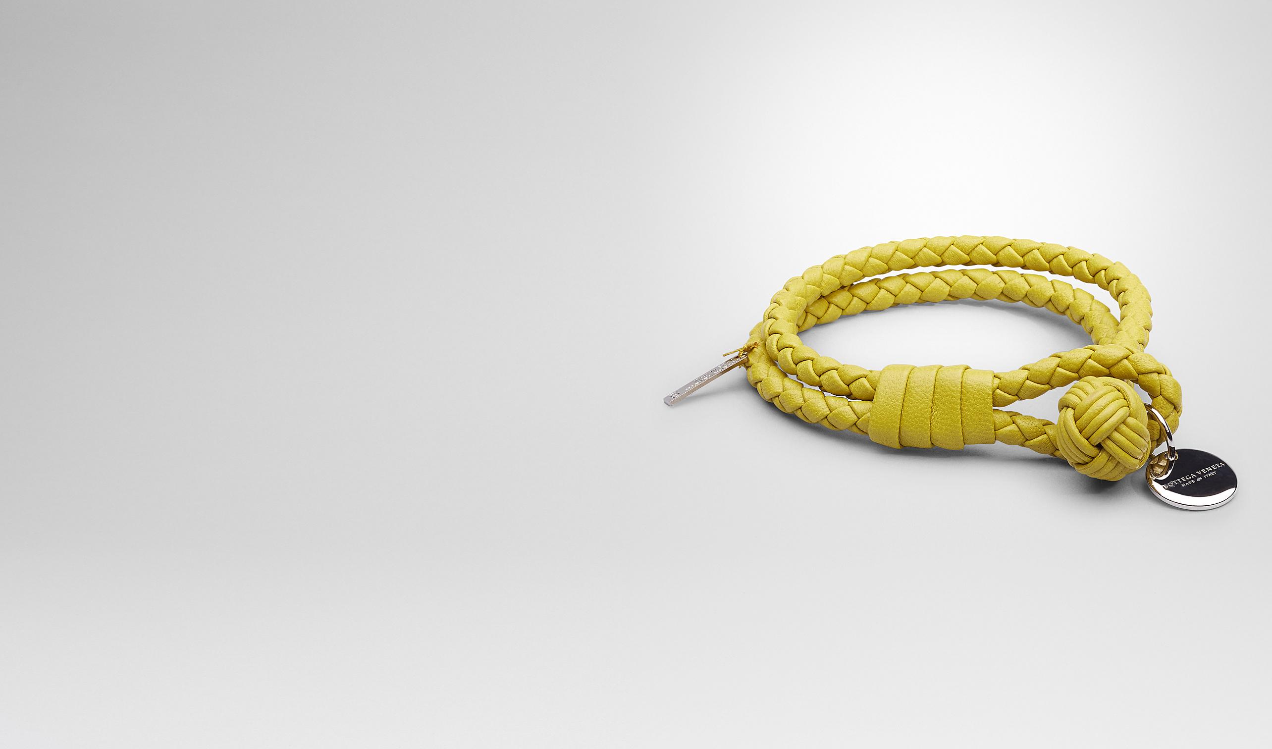BOTTEGA VENETA Keyring or Bracelets E NEW CHARTREUSE INTRECCIATO NAPPA BRACELET pl