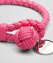 BOTTEGA VENETA ROSA SHOCK INTRECCIATO NAPPA BRACELET Keyring or Bracelets E ap