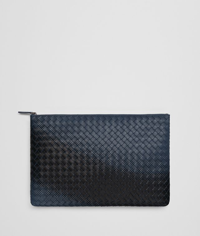 BOTTEGA VENETA DENIM INTRECCIATO NAPPA GALAXY POUCH Other Leather Accessory E fp